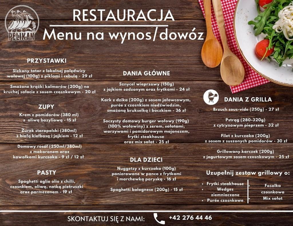skrócona karta menu